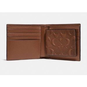 Coach Bags - Coach F25753 Men's Compact ID Wallet